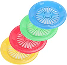 Trenton GIfts 10-Inch Reusable Plastic Paper Plate Holders, Picnic Supplies (12 Set - Assorted Colors)