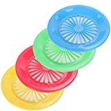10' Reusable Plastic Paper Plate Holders - Set of 12