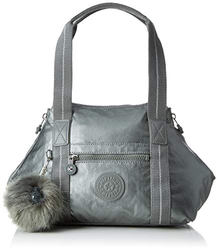 Kipling Art Mini, Cartables femme, Gris (Metallic Stony)