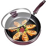 BAODI Padelle Antiaderente Pentola da Cucina con Impugnatura a Helper Saute Pan Egg Pan Pan Chef Padelle Stare Fry Pans per Tutte Le Cime del fornello, pentole Sane e sicure