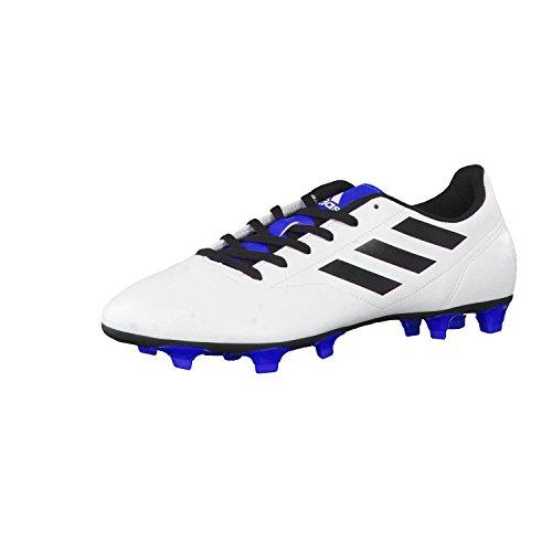 adidas conq uisto II FG–Guantes de fútbol, hombre, Ftwr White/Core Black/Blue, 41