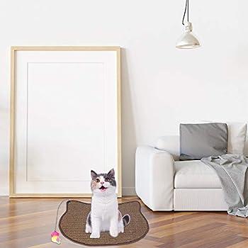 Tapis griffoir pour chat - Jouet d'entraînement en sisal - Anti-dérapant - Protège les meubles