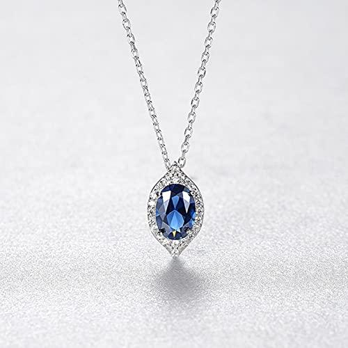 LOKILOKI Pendientes De Gota De Agua Zafiro para Mujeres Niñas Plata De Ley Moda Joyería De Piedras Preciosas Azules Finas