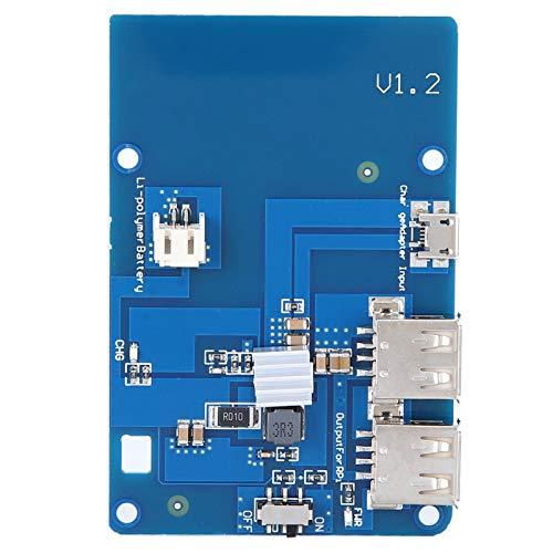 2 USB-A-Anschlüsse Robuste USV-Batterieerweiterungskarte in Mini-Größe Lipo-Batterieerweiterungskarte für Raspberry Pi Motherboard Industrial