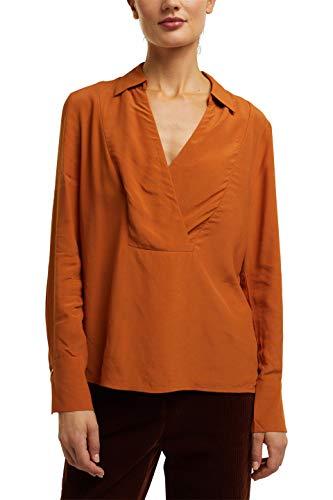 ESPRIT Collection Damen 100EO1F303 Bluse, 220/RUST Brown, 34