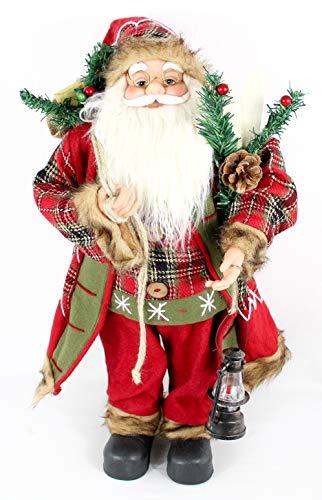 Pullach Hof Weihnachtsmann Weihnachtsmänner Figur ca. 60cm Deko Nikolaus Santa Claus| 4 Verschiedene Modelle zur Auswahl (Joseph)