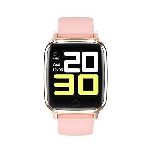 RBTT R1 Smart Armband weiblichen physiologischen Zyklus Wecker Fitness Tracker wasserdichte 1,3-Zoll-Full-Touchscreen-Uhrenarmband,Gold