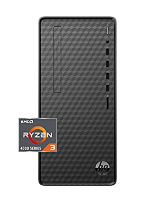 HP Desktop PC, AMD Ryze 3 4300G Processor, 8 GB of RAM, 512 GB PCIe NVMeTM M.2 SSD, Windows 10 Home, High Speed Performance, Computer, 8 USB Ports, for Business, Study, Videos, and Gaming (M01-F1120)