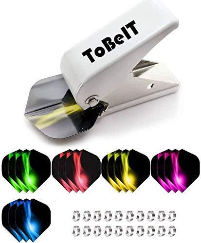 ToBeIT Flight Locher mit Dart Flights Set und Shaft Federringe Set - Slotmachine Flights Zubehör