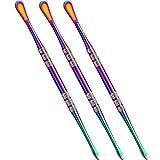 3 Packs Wax Carving Tool Wax Tool Carving Tool Stainless Steel Tool Spoon 4.75 Inch (Rainbow)