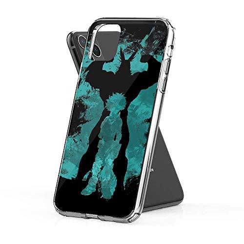 Cinhent Phone Funda Compatible para iPhone 7 Plus/8 Plus Casos Absorción de Golpes Resistente a los Arañazos Cover My Hero Academia All Might Deku Claro como el Cristal