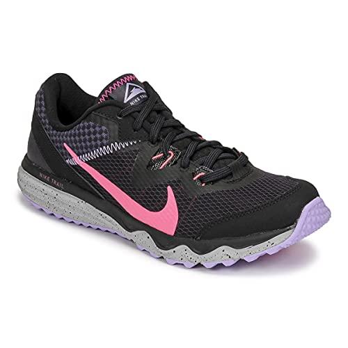 Nike Juniper Trail, Zapatillas para Correr Hombre, Black Hyper Pink Cave Purple Lilac, 39 EU