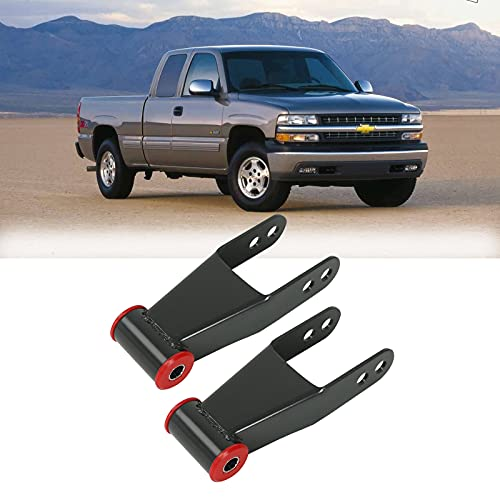 2' Rear Drop Lowering Shackles Suspension Kit Compatible with 1988-1998 Chevy & GMC C1500/C2500 1988-2018 Silverado GMC Sierra 1500 Replaces # 410520