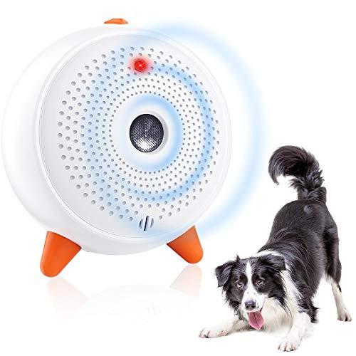 SiBei Anti Bellen Gerät, Ultraschall Anti-Bell-gerät, Automatisch Antibell Halsband Hund, Wiederaufladbares & Wasserdichtes Erziehungshalsband Hund mit 33ft für Große/Kleine Hunde-Weiß