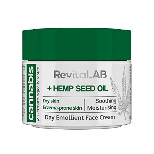 RevitaLAB - Crema facial emoliente de día con extracto de cánnabis y...