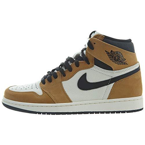 Nike Air Jordan 1 Retro High OG, Zapatillas de Deporte para Hombre, Multicolor (Golden Harvest/Black/Sail 700), 44 EU