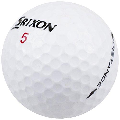 Srixon Distance Golfbälle 4-Fach, Unisex Erwachsene, weiß, M