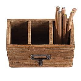 Boîte porte-crayons «BOX 18» | acajou, 19×12 cm (LxH) | boîte à crayons, porte-crayons, boîte pour le bureau