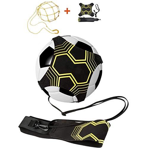 APERIL 2 Pack Fußball Trainer, Fußball/Soccer Trainer Zubehör, Einstellbar Fußballtraining Taille Gürtel für Anfänger Kick Off Trainer und Kinder