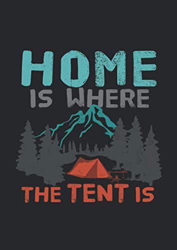 Notizbuch kariert mit Softcover Design: Wintercamping Zelten Camping Berge Wald Outdoor Zelt