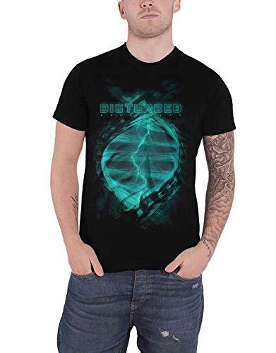 Disturbed T Shirt Evolutionary Band Logo New Mens Black