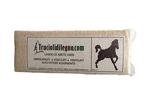 MillStore Trucioli di Abete per lettiera e Box Cavalli, Avicoli e Roditori - 20 kg