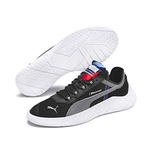 PUMA BMW MMS REPLICAT-X Sneaker, Black White-Blueprint, 10.5 M US