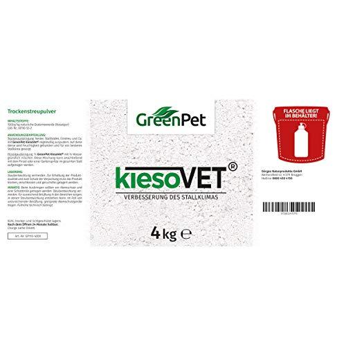 GreenPet KiesoVet Kieselgur 4kg - Reine biologische Diatomeenerde inkl. Stäubeflasche im Eimer, Kieselerde als Pulver, Bio Produkt für Hühnerställe, Hühner & Geflügel Betriebe - 2