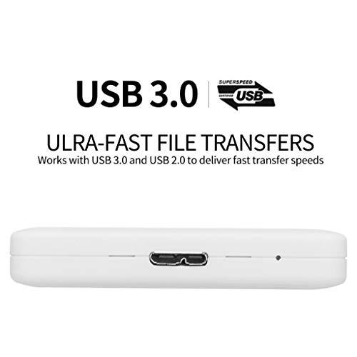 H HILABEE Portátil Disco Duro Externo, Unidad de Estado Sólido, USB3.0 Almacenamiento para PC, Fácil de Usar sin Software para Instalar - 500GB