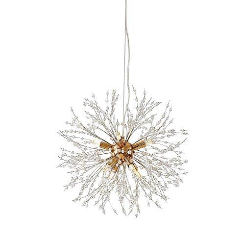Raxinbang Fuegos Artificiales Luces arañas de Cristal de la Burbuja de Las Luces del Sputnik luz Que cuelga Luces de Navidad for el Dormitorio Comedor Accesorios de iluminación de la Sala 8-Lights en