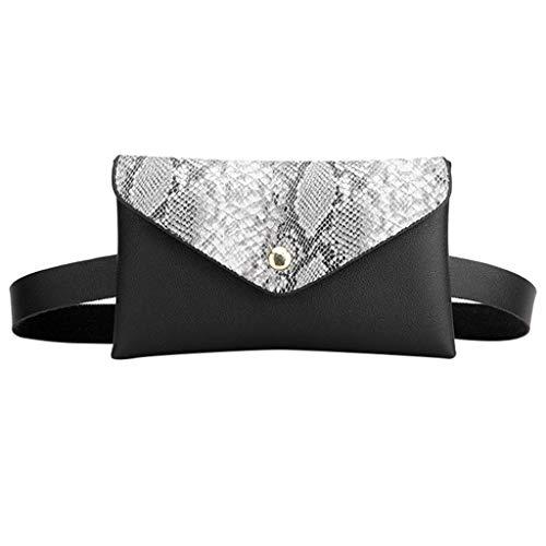 YEBIRAL Gürteltasche Damen Bauchtasche Taillengürtel Hüfttaschen Mode Umhängetasche für Frauen/Schlangen-Muster