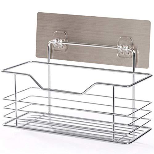 Duschorganisator Lagerregal - Bad Edelstahl Handtuch frei Punsch Bad Sanitär runde Ecke Rack Küche Lagerung-EIN