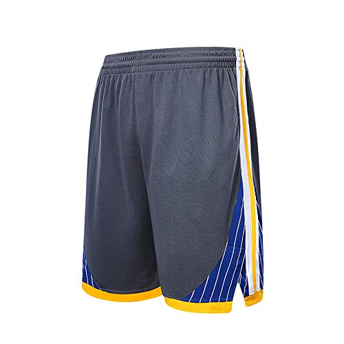 NIUPUPU Pantalones Cortos de Baloncesto para Hombre de la NBA Golden State Warriors Pantalones Cortos para Correr Deportivos Pantalones Cortos de Entrenamiento para Gimnasio Ropa Informal XXS-5XL