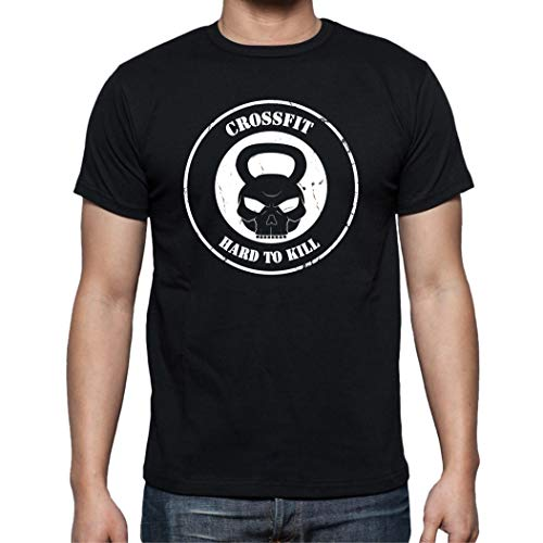 The Fan Tee Camiseta de Hombre Crossfit Deporte Gimnasio Gym Pesas 001 M
