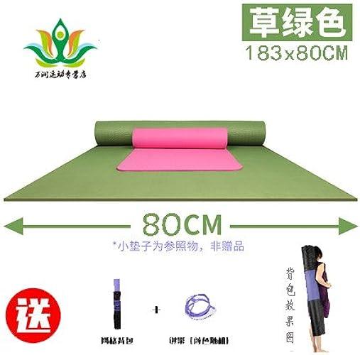 YOOMAT Double Yoga Mat 120cm de Large Extension épais Inodore TPE Fitness Anti-Slip Enfants Danse Exercice Mat Taille164160