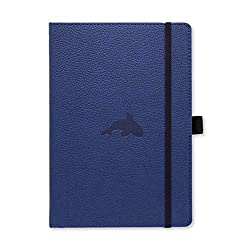 black dingbats notebook with orca embossed on cover