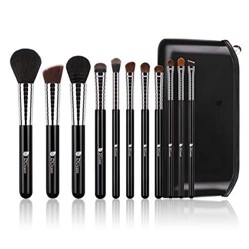 Pinceau De Maquillage Professionnel Set 11 Pcs Mix Fondation Blush Eye Maquillage Outil Sac Pu