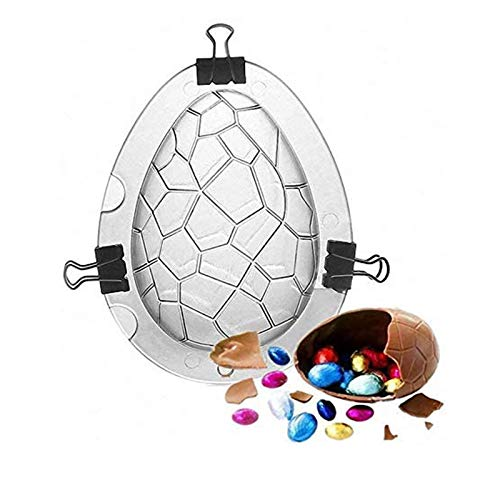 Easter Egg Large Size 3D Dinosaur Egg Chocolate Mold, Rabbit Bunny Dinosaur Eggs Shape Non-Stick Silicone Mold DIY Mould for Cake, Jelly, Pudding Easy to Use & Clean (Dinosaur Egg A)