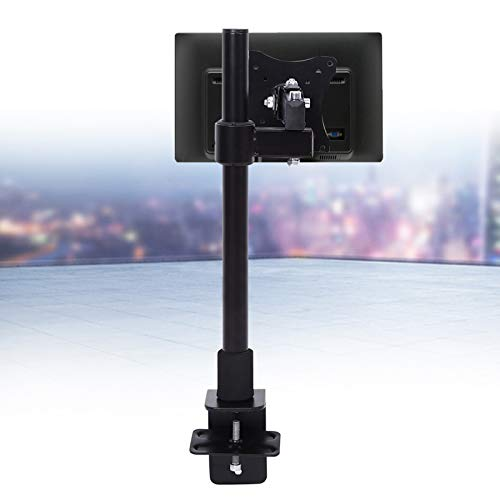 jadenzhou Montaje en Soporte para un Solo Monitor, Montaje en un Solo Escritorio Función giratoria de 180 ° para hogares para Empresas para escuelas para dormitorios para oficinas, etc.