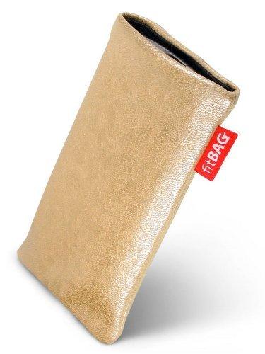 fitBAG Blues Creme Handytasche Tasche aus Lederimitat mit Microfaserinnenfutter für Nokia 5030 XpressRadio