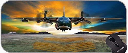 Cada Estera de ratón Personalizada, Transporte de aeronaves de aeronave de Transporte Almohadilla de Alfombrilla de ratón con Bordes cosidos