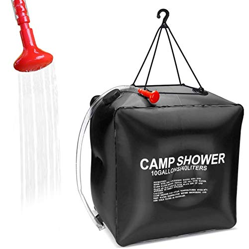 KIPIDA Solar Shower Bag for Camping,10 gallons/40L Solar Heating Shower Bag with...