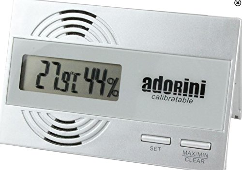 Lifestyle-Ambiente Adorini hygrometer thermometer digitaal incl. Tastingblad - Nieuw: kalibreerbaar