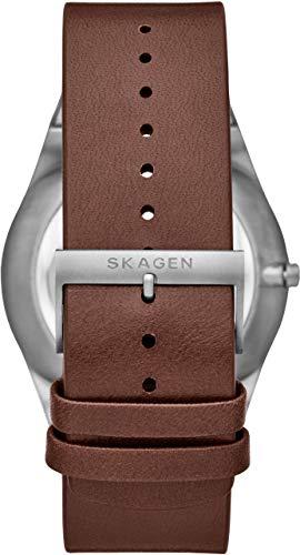 SKAGEN(スカーゲン)『MELBYE三針デイデイトブラウンレザーウォッチ(SKW6574)』
