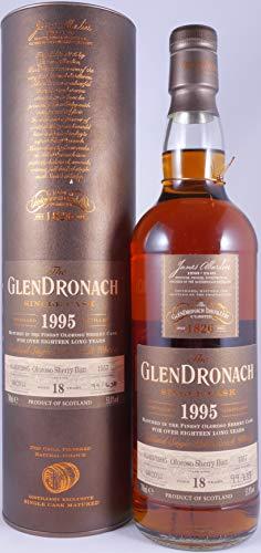 Glendronach 1995 18 Years Oloroso Sherry Butt 1557 Highland Single Malt Scotch Whisky 53,8% Vol. - eine von 638 Flaschen exclusiv für den deutschen Markt!