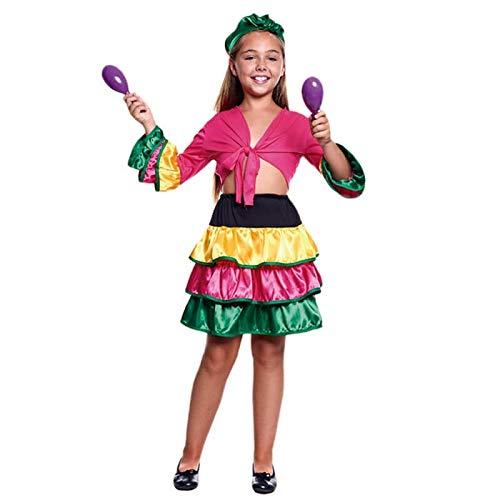 Disfraz Brasileña Colorful Niña (3-4 años) (+ Tallas) Carnaval Mundo