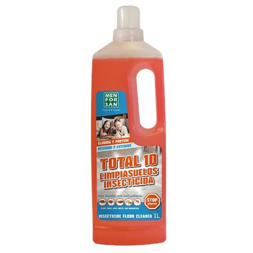 MENFORSAN Total 10, Limpiasuelos Insecticida 1L, Elimina y Protege el Entorno de la Mascota y el Hogar, para Interior y Exterior 1000 g