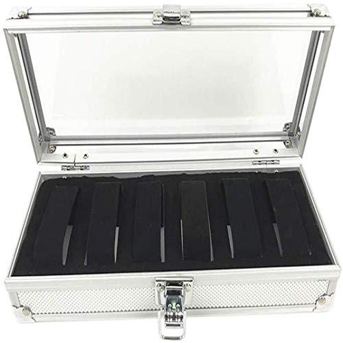 DYSCN Uhrenbox für Herren und Damen, 6 Fächer, Uhrenbox aus Aluminiumlegierung, für Armbanduhren