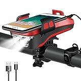 ZLDM 4 en 1 Luz para bicicleta, recargable por USB, 3 modos de iluminación, se puede utilizar como...