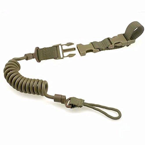 Frolahouse Tactical Rifle Sling Schlüsselband Verstellbarer Bungee Gurt Haken Schlüsselanhänger Lanyard